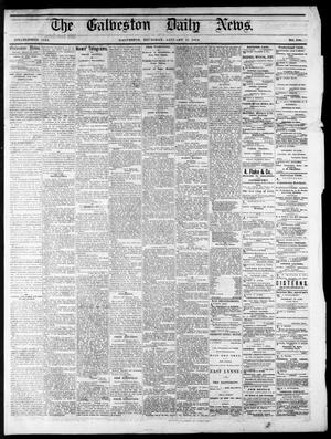 Primary view of object titled 'The Galveston Daily News. (Galveston, Tex.), No. 396, Ed. 1 Thursday, January 15, 1874'.