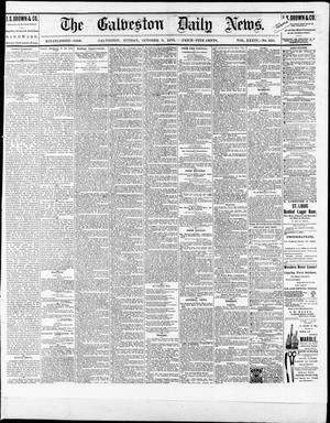 Primary view of object titled 'The Galveston Daily News. (Galveston, Tex.), Vol. 34, No. 228, Ed. 1 Sunday, October 3, 1875'.