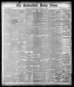 Primary view of object titled 'The Galveston Daily News. (Galveston, Tex.), Vol. 37, No. 66, Ed. 1 Saturday, June 8, 1878'.