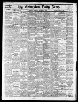 Primary view of object titled 'The Galveston Daily News. (Galveston, Tex.), Vol. 34, No. 240, Ed. 1 Tuesday, October 13, 1874'.