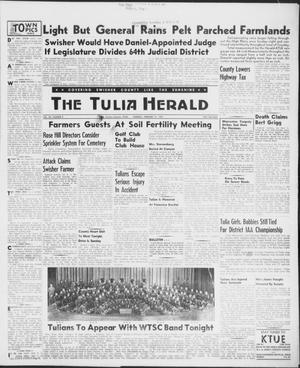 Primary view of object titled 'The Tulia Herald (Tulia, Tex), Vol. 48, No. 8, Ed. 1, Thursday, February 21, 1957'.