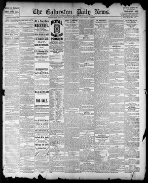 Primary view of object titled 'The Galveston Daily News. (Galveston, Tex.), Vol. 42, No. 352, Ed. 1 Saturday, March 8, 1884'.