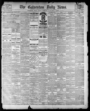 Primary view of object titled 'The Galveston Daily News. (Galveston, Tex.), Vol. 42, No. 325, Ed. 1 Sunday, February 10, 1884'.
