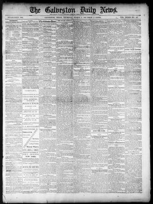 Primary view of object titled 'The Galveston Daily News. (Galveston, Tex.), Vol. 39, No. 296, Ed. 1 Thursday, March 3, 1881'.