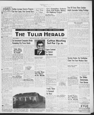 Primary view of object titled 'The Tulia Herald (Tulia, Tex), Vol. 48, No. 5, Ed. 1, Thursday, January 31, 1957'.