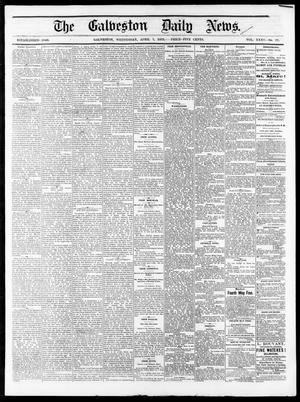 Primary view of The Galveston Daily News. (Galveston, Tex.), Vol. 35, No. 77, Ed. 1 Wednesday, April 7, 1875