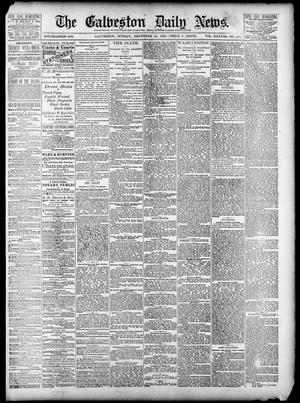 Primary view of object titled 'The Galveston Daily News. (Galveston, Tex.), Vol. 38, No. 229, Ed. 1 Sunday, December 14, 1879'.