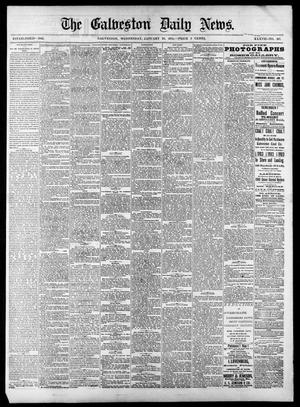 Primary view of object titled 'The Galveston Daily News. (Galveston, Tex.), Vol. 37, No. 267, Ed. 1 Wednesday, January 29, 1879'.