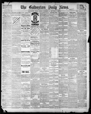 Primary view of object titled 'The Galveston Daily News. (Galveston, Tex.), Vol. 42, No. 239, Ed. 1 Friday, November 16, 1883'.