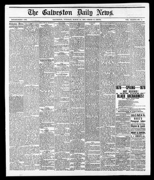 Primary view of object titled 'The Galveston Daily News. (Galveston, Tex.), Vol. 37, No. 2, Ed. 1 Tuesday, March 26, 1878'.