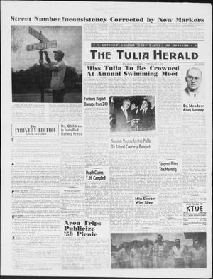 Primary view of object titled 'The Tulia Herald (Tulia, Tex), Vol. 50, No. 27, Ed. 1, Thursday, July 2, 1959'.
