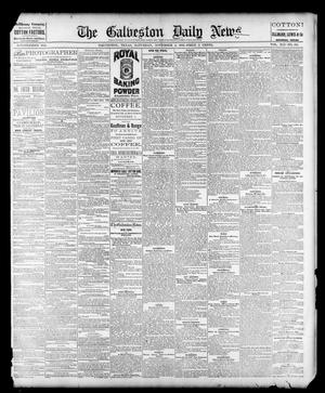 Primary view of object titled 'The Galveston Daily News. (Galveston, Tex.), Vol. 41, No. 195, Ed. 1 Saturday, November 4, 1882'.