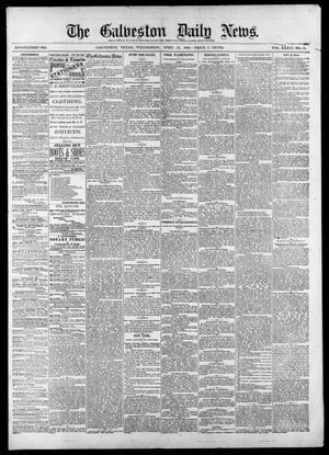 Primary view of object titled 'The Galveston Daily News. (Galveston, Tex.), Vol. 39, No. 31, Ed. 1 Wednesday, April 28, 1880'.