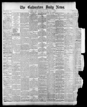 Primary view of object titled 'The Galveston Daily News. (Galveston, Tex.), Vol. 39, No. 90, Ed. 1 Tuesday, July 6, 1880'.