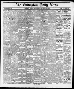 Primary view of object titled 'The Galveston Daily News. (Galveston, Tex.), Vol. 37, No. 145, Ed. 1 Sunday, September 8, 1878'.