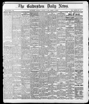 Primary view of object titled 'The Galveston Daily News. (Galveston, Tex.), Vol. 37, No. 134, Ed. 1 Tuesday, August 27, 1878'.
