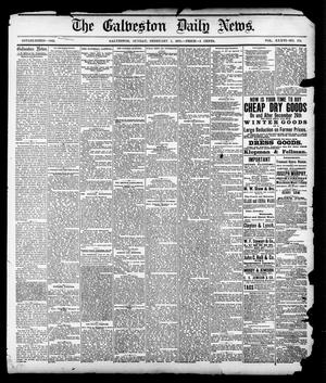 Primary view of object titled 'The Galveston Daily News. (Galveston, Tex.), Vol. 36, No. 272, Ed. 1 Sunday, February 3, 1878'.