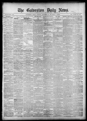 Primary view of object titled 'The Galveston Daily News. (Galveston, Tex.), Vol. 39, No. 234, Ed. 1 Tuesday, December 21, 1880'.