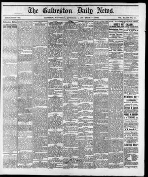 Primary view of object titled 'The Galveston Daily News. (Galveston, Tex.), Vol. 37, No. 147, Ed. 1 Wednesday, September 11, 1878'.