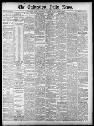 Primary view of object titled 'The Galveston Daily News. (Galveston, Tex.), Vol. 38, No. 189, Ed. 1 Wednesday, October 29, 1879'.