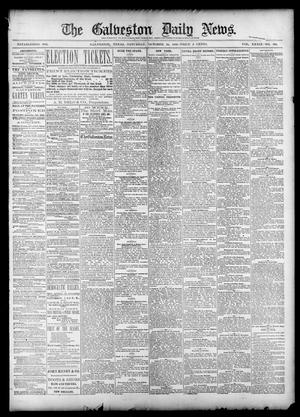Primary view of object titled 'The Galveston Daily News. (Galveston, Tex.), Vol. 39, No. 190, Ed. 1 Saturday, October 30, 1880'.