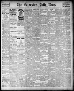 Primary view of object titled 'The Galveston Daily News. (Galveston, Tex.), Vol. 40, No. 165, Ed. 1 Saturday, October 1, 1881'.