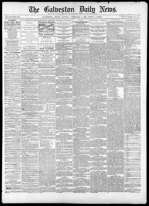 Primary view of object titled 'The Galveston Daily News. (Galveston, Tex.), Vol. 38, No. 277, Ed. 1 Sunday, February 8, 1880'.