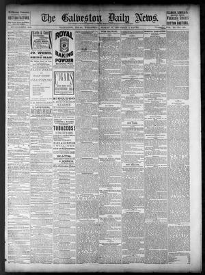 Primary view of object titled 'The Galveston Daily News. (Galveston, Tex.), Vol. 40, No. 138, Ed. 1 Wednesday, August 31, 1881'.