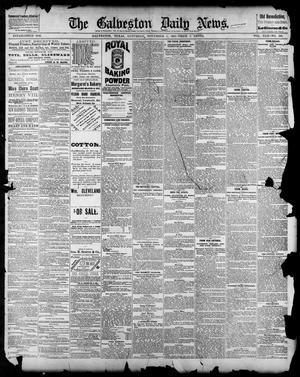 Primary view of object titled 'The Galveston Daily News. (Galveston, Tex.), Vol. 42, No. 226, Ed. 1 Saturday, November 3, 1883'.