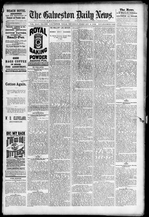Primary view of object titled 'The Galveston Daily News. (Galveston, Tex.), Vol. 44, No. 286, Ed. 1 Thursday, February 4, 1886'.