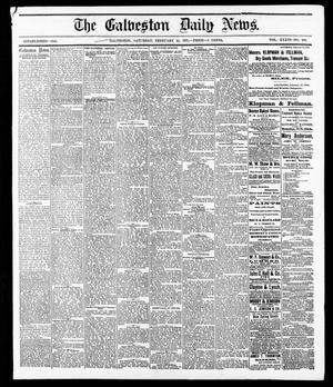 Primary view of object titled 'The Galveston Daily News. (Galveston, Tex.), Vol. 36, No. 289, Ed. 1 Saturday, February 23, 1878'.