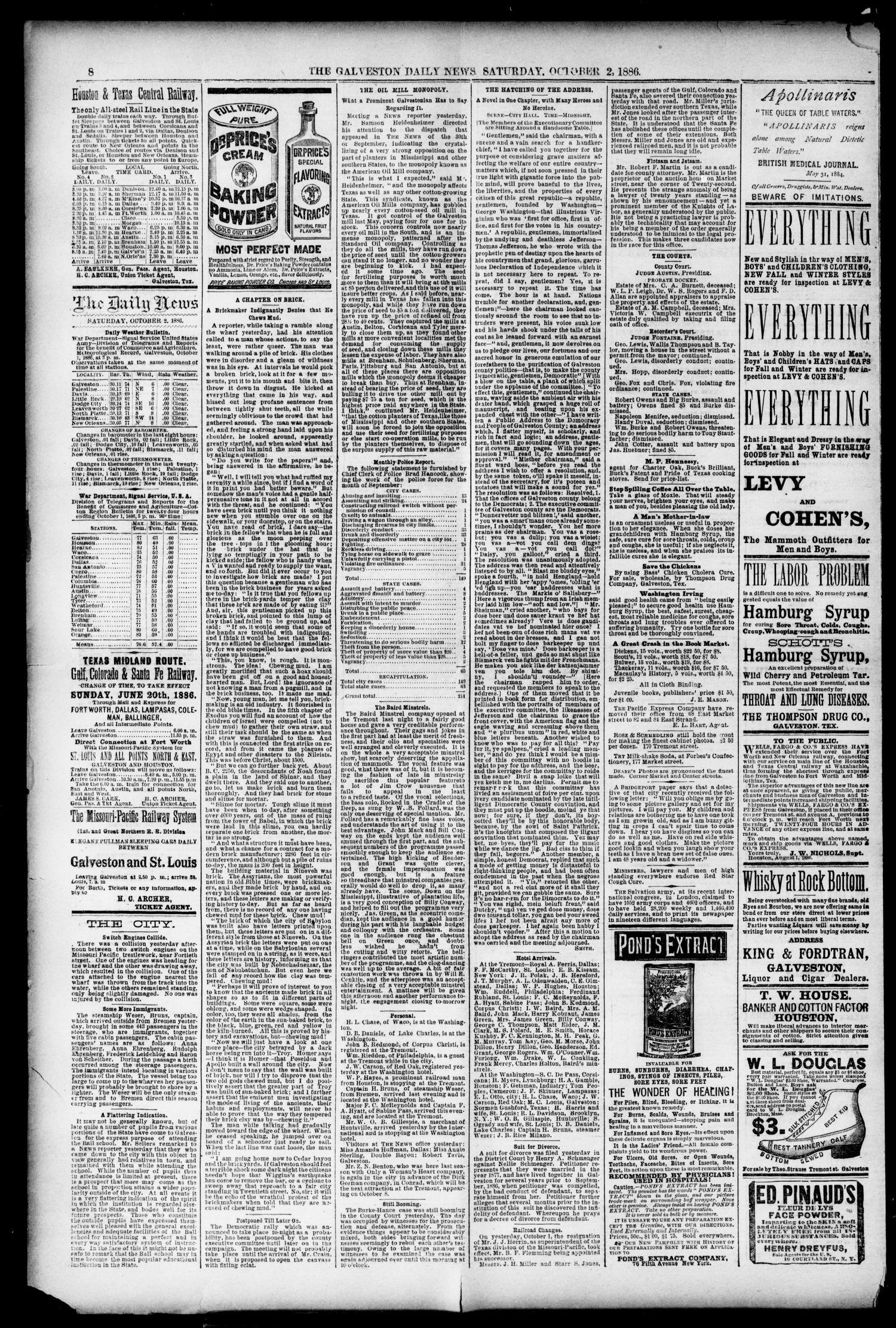 the galveston daily news galveston tex vol 45 no 160 ed 1 rh texashistory unt edu