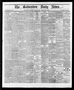Primary view of object titled 'The Galveston Daily News. (Galveston, Tex.), Vol. 35, No. 133, Ed. 1 Saturday, June 12, 1875'.