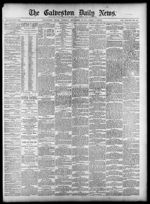 Primary view of object titled 'The Galveston Daily News. (Galveston, Tex.), Vol. 38, No. 164, Ed. 1 Tuesday, September 30, 1879'.