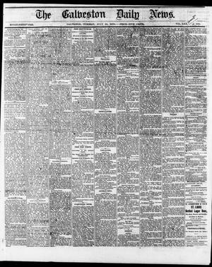 Primary view of The Galveston Daily News. (Galveston, Tex.), Vol. 35, No. 165, Ed. 1 Tuesday, July 20, 1875