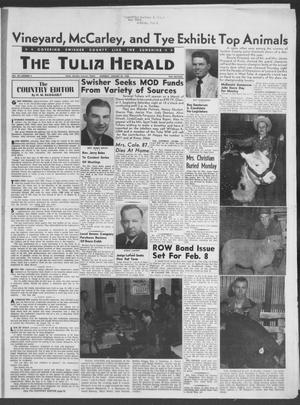 Primary view of object titled 'The Tulia Herald (Tulia, Tex), Vol. 49, No. 4, Ed. 1, Thursday, January 23, 1958'.