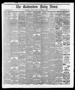 Primary view of The Galveston Daily News. (Galveston, Tex.), Vol. 37, No. 80, Ed. 1 Tuesday, June 25, 1878