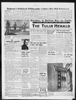 Primary view of object titled 'The Tulia Herald (Tulia, Tex), Vol. 50, No. 1, Ed. 1, Thursday, January 1, 1959'.