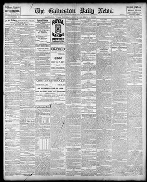 Primary view of The Galveston Daily News. (Galveston, Tex.), Vol. 41, No. 105, Ed. 1 Saturday, July 22, 1882