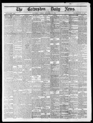 Primary view of object titled 'The Galveston Daily News. (Galveston, Tex.), Vol. 34, No. 228, Ed. 1 Tuesday, September 29, 1874'.