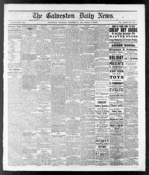 Primary view of object titled 'The Galveston Daily News. (Galveston, Tex.), Vol. 36, No. 239, Ed. 1 Thursday, December 27, 1877'.