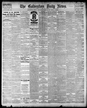 Primary view of object titled 'The Galveston Daily News. (Galveston, Tex.), Vol. 42, No. 7, Ed. 1 Thursday, March 29, 1883'.