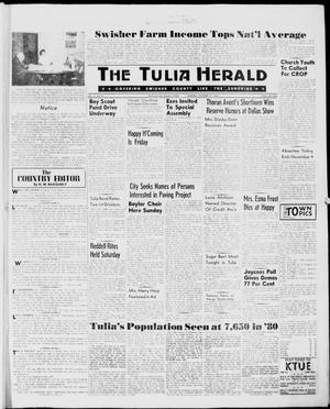 Primary view of object titled 'The Tulia Herald (Tulia, Tex), Vol. 51, No. 43, Ed. 1, Thursday, October 27, 1960'.