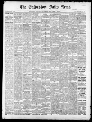 Primary view of object titled 'The Galveston Daily News. (Galveston, Tex.), Vol. 37, No. 186, Ed. 1 Saturday, October 26, 1878'.
