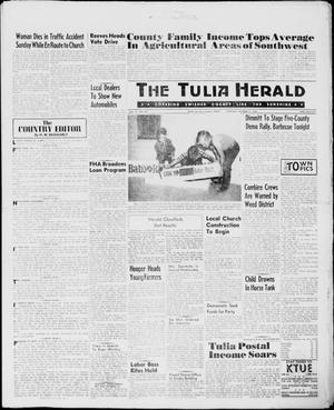 Primary view of object titled 'The Tulia Herald (Tulia, Tex), Vol. 51, No. 40, Ed. 1, Thursday, October 6, 1960'.