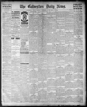 Primary view of object titled 'The Galveston Daily News. (Galveston, Tex.), Vol. 40, No. 155, Ed. 1 Tuesday, September 20, 1881'.