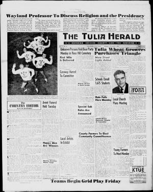 Primary view of object titled 'The Tulia Herald (Tulia, Tex), Vol. 51, No. 35, Ed. 1, Thursday, September 1, 1960'.