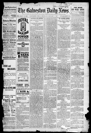 Primary view of object titled 'The Galveston Daily News. (Galveston, Tex.), Vol. 43, No. 253, Ed. 1 Thursday, January 1, 1885'.