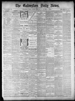 Primary view of object titled 'The Galveston Daily News. (Galveston, Tex.), Vol. 39, No. 293, Ed. 1 Sunday, February 27, 1881'.