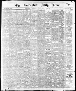 Primary view of object titled 'The Galveston Daily News. (Galveston, Tex.), Vol. 34, No. 180, Ed. 1 Sunday, August 8, 1875'.